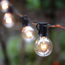 Industrial String Lights Wholesale G40 String Lights With 25 G40 Clear Globe Bulbs Listed For Indoor Outdoor Vintage Backyard Patio Lights Outdoor String Lights Industrial