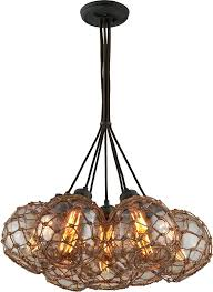 troy outer banks hand worked wrought iron multi hanging light fixture pendant uk lamp lights