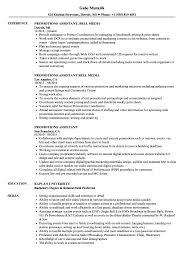 On Air Personality Resume Sample Promotions Assistant Resume Samples Velvet Jobs 21