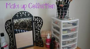 Makeup collection and storage ideas for small spaces/collections. - YouTube
