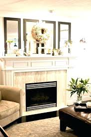 innovative fireplace mantels for in family room modern with art above next to mantel decorating