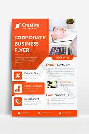 Sample Of Flyer Orange Corporate Flyer Design Sample Template Psd Free