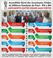 Resultado de imagem para oficiais  da pm ameaçam greve militar piaui