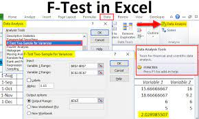 f test in excel exles how to