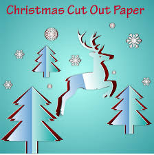 Christmas Design Template Christmas Template Design With Cut Out Paper Style Free Vector In