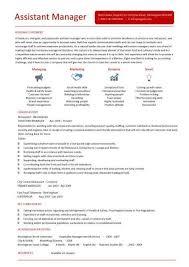 Assistant Manager Resume Retail Jobs Cv Job Description In