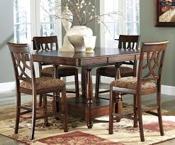Espresso Counter Height Dining Table Set Amazing Design Of
