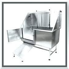 dog wash tubs for large professional stainless steel pet grooming bath tub with ramp metal