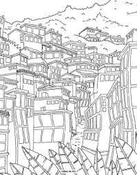 Tree House Coloring Pages Drawings Kid Colorings