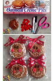 Kildaretreats.com.visit this site for details: Gingerbread Doll Christmas Snack Store Bought Treat For Kids Oatmeal Creme Pie So Cute Homemade Christmas Christmas Treats Christmas School