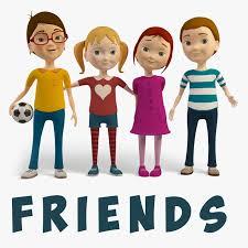 3d cartoon friends kids