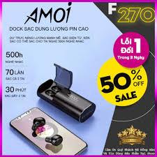 GIÁ HUỶ DIỆT ] Tai Nghe Bluetooth Không Dây Amoi F9 4800, F9 PRO Tai Nghe  Bluetooth kiêm sạc dự phòng giá cạnh tranh