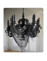 Kronleuchter Halloween Dekoration Schwarz 41x58 Cm