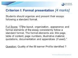 extended essay guidelines ppt video online 41 criterion