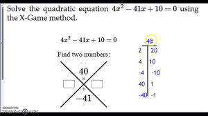 cca x game method of solving quadratics
