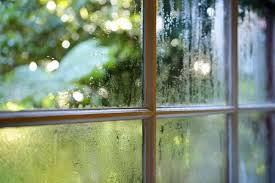 a fogged window pane