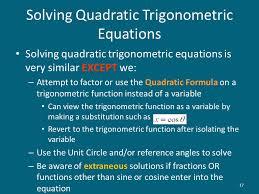 17 solving quadratic trigonometric