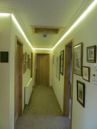 best hallway lighting. Led Strip Lights On Top Of The Wall For Hallway Lighting Ideas Best