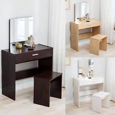 vanity dressing desk makeup table and stool set dresser with mirror drawer