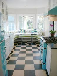Retro Kitchen Flooring Retro 1950s Kitchen Handmade Tile Mercury Mosaics