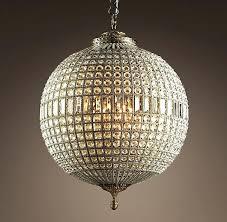 frightening large round crystal chandelier