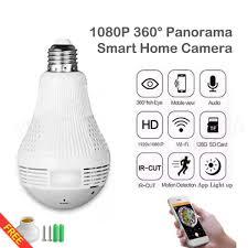 Ihambing Ang Pinakabagong Ume 1080p Light Bulb Cctv Camera Wifi
