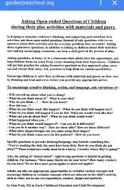 Open Ended Questions To Use In Early Childhood Education
