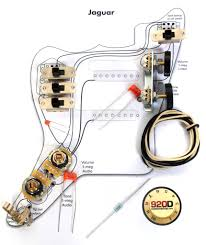 fender jaguar wiring diagram fender image wiring fender vintage 62 jaguar wiring kit pots switch slider caps on fender jaguar wiring diagram