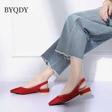 <b>BYQDY Fashion Office Lady</b> Winter Boots Pointed Toe Footwear ...