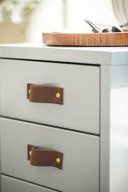 Kitchen Cupboard Handles Ikea Leather Pulls Leather Handles Leather Cabinet Hardware
