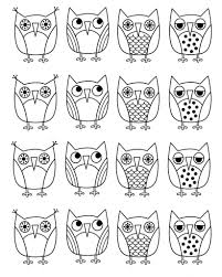 Owl Coloring Pages Coloringrocks