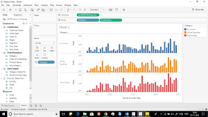 Tableau Dual Axis Bar Chart Side By Side Enhanced Visualization In Tableau Combining Plots