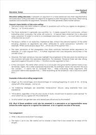 Discursive Essays Examples 5 Discursive Writing Samples And Templates Pdf