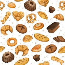 Bakery Background Vector Seamless Pattern With Pastry Hand