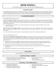 Medical Billing Sample Resume Clerk Samples Vozmitut