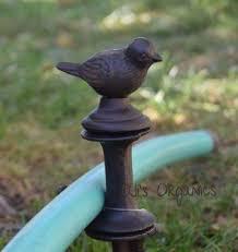 garden hose stakes. garden turtle, squirrel \u0026 bird hose guides stakes g