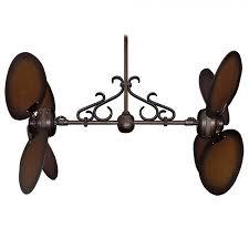 twin star iii ceiling fan oil rubbed bronze w distressed walnut blades shown