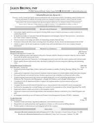 Awesome Collection Of Senior Financial Analyst Resume Easy