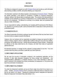 Free Employees Handbook Free Employee Policy Manual