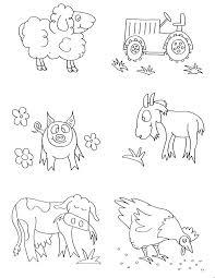 Small Picture Farm Animals Coloring Page nebulosabarcom