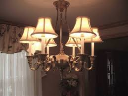 cute chandelier mini lamp shades applied to your residence design
