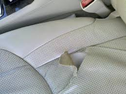 worn and torn car seats are very common especially on heavily bolstered leather seats like in the m