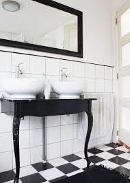 black and white bathroom floor tile. eclectic bathroom by louise de miranda black and white floor tile i