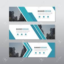 Business Banner Design Blue Triangle Abstract Corporate Business Banner Template