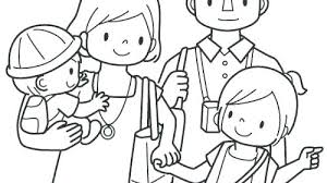 Family Coloring Pages Printable For Kids Chronicles Network