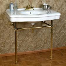 bathroom console sink sinks with metal legs table chrome