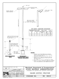 Traffic Sign Foundation Design Maryland Book Of Standards For Highway And Incidental