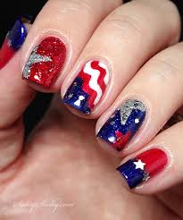 4th-of-july-nail-art-flag-stars-glitter-manicure | Sassy Shelly