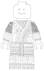 Lego Man Coloring Page Free See