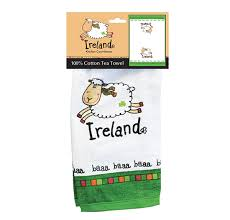 Small Picture Ireland White Sheep Single T Towel IrishCentral Gift Store